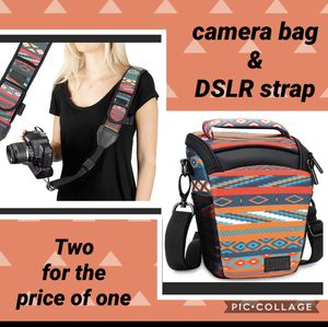 usa 🇺🇸 gear dslr Camera bag & free strap , Check out all my other equipment bundle up and always save more, please see pictures for full description for Sale in Redlands, CA