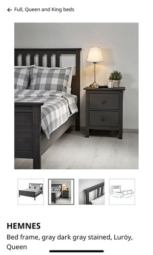 Bed frame, Queen size with a side table for Sale in Toledo, OH
