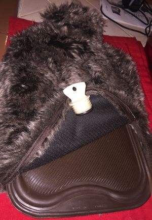 Unique faux fur covered hot water bottle. Good condition for Sale in Fresno, CA