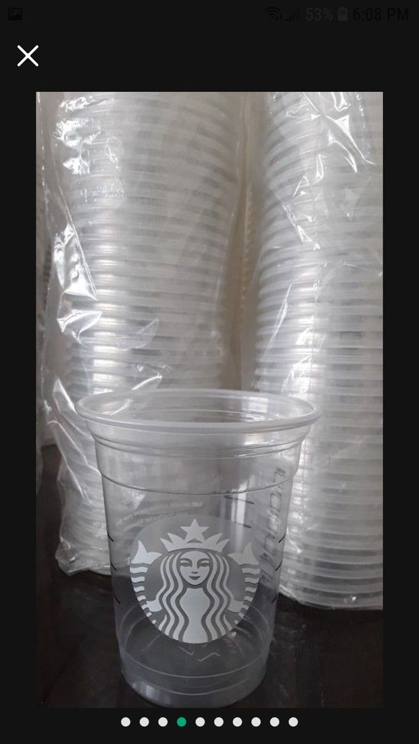 Starbucks Cups All Are New Have 1 Box Full Of Them Different sizes They Come With Lids