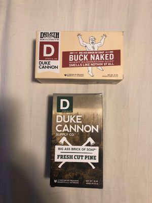 Duke Cannon Big Ass Brick of Soap Fresh Cut Pine and Buck Naked 1 or each for Sale in Grand Rapids, MI