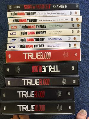 DVD trueblood Big bang theory Sons of Anarchy for Sale in Lawndale, CA