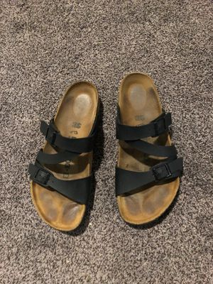 "Birkenstock sandals"" Salina birko-flor Black"" size 40. $45.00 for Sale in Richardson, TX"
