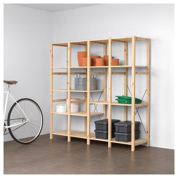 IKEA Ivar 4-section shelving unit (with extra shelves!)