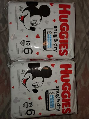 New huggies size 6 (19ct) for Sale in Baytown, TX
