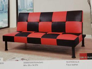 Blavk / Red Futon sofa bed ( new) for Sale in San Mateo, CA