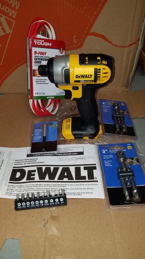 NEW Dewalt 20v MAX impact driver with socket attachments for Sale in Ashburn, VA