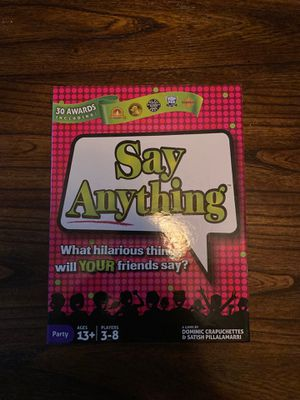 Say Anything Board Game for Sale in Broomfield, CO