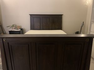Pier 1 Bed Frame, Memory Foam Mattress and Box Spring for Sale in Seminole, FL