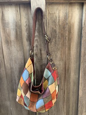 Lucky brand patchwork hobo purse for Sale in Marion Center, PA