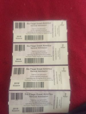 Six flags tickets for for Sale in Peoria, IL