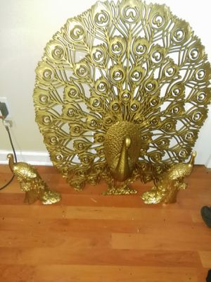 Gold vintage peacock wall hanging for Sale in Montgomery, AL