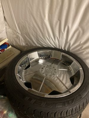 22 inch rims with tires for Sale in Syracuse, NY