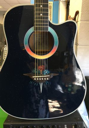 Esteban celebration firework electric acoustic guitar for Sale in Cheshire, CT