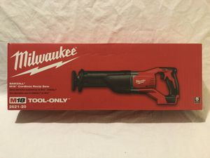 Brand new Milwaukee M18 cordless reciprocating saw. Tool only for Sale in Vacaville, CA