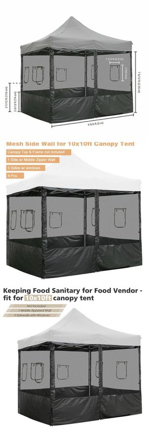 4pcs Pop Up Canopy Net Side Wall 10x10ft Tent Shelter Insect Mesh Sidewall Food Vending for Sale in Chino, CA