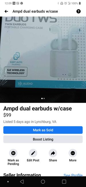 Ampd dual pods w case for Sale in Amherst, VA