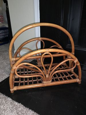 Rattan magazine rack for Sale in Silver Spring, MD