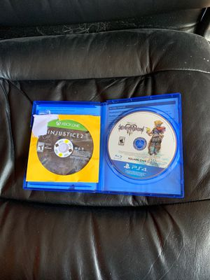 Kingdom hearts 3 and injustice 2 PS4 for Sale in West Hartford, CT