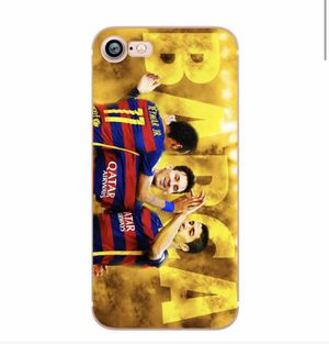 Phone Case for iphone 5S 7 8 6S 6 PLUS X 10 5 SE CR7 Ronaldo Messi Neymar Football Soccer Soft Silicone Shell Case for Sale in Charlotte, NC