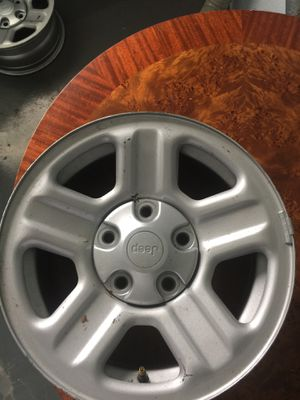 Jeep wheels 15 or 16 125.00 price to go for Sale in Edgewood, MD