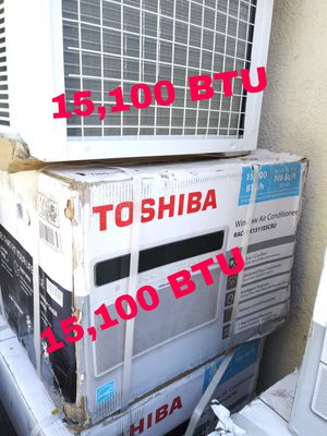 BRAND NEW AC WINDOW TOSHIBA 15,100 BTU 115V IDEAL FOR ROOM 700 SQ FT ENERGY SAVER FOR ANY QUESTION TEXT ME ANY TIME PLEASE. for Sale in Los Angeles, CA