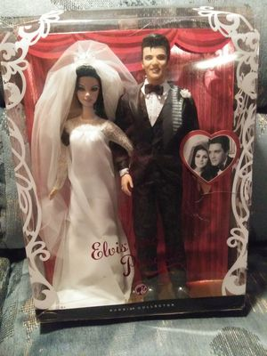 Elvis and priscilla wedding dolls for Sale in Lake Wales, FL