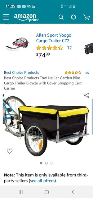Best Choice pull behind cart with cover for Sale in Hollywood, FL