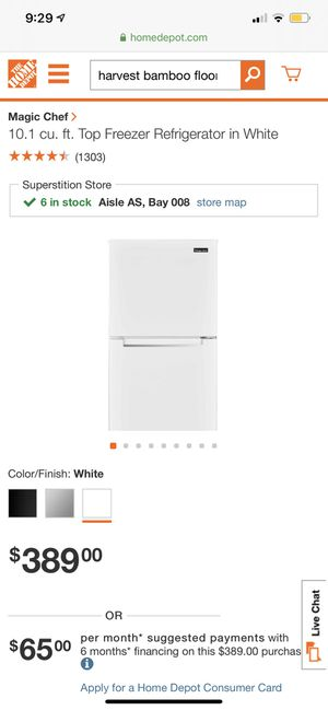 Magic chef 10.1 refrigerator/freezer brand new!! for Sale in Phoenix, AZ