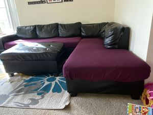 L shape sectional Sofa-black for Sale in Fremont, CA