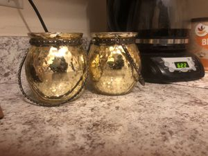 Rustic yellow candle holders for Sale in Baltimore, MD