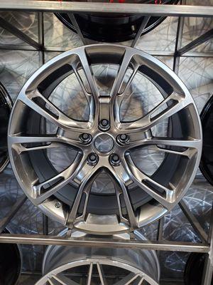 "22"" jeep set metallic wheels fits grand Cherokee and durango 5x127 rim wheel tire shop for Sale in Tempe, AZ"