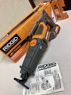 RIDGID 18-Volt OCTANE Lithium-Ion Cordless Brushless Reciprocating Saw (Tool-Only) with Reciprocating Saw Blade for Sale in Arlington, TX