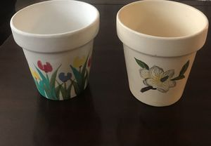 5 in. ceramic flower pots, $8 each for Sale in Palm Springs, FL