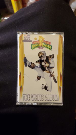 1994 3D audio adventure cassette Mighty morphin Power Rangers, the white album for Sale in Hayward, CA