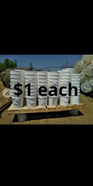5 gal buckets 100 available for Sale in LAKE MATHEWS, CA