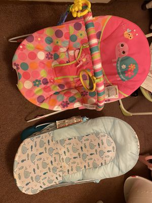Baby girl Bouncer and boy bath thing for Sale in Easley, SC