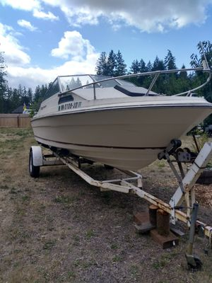Roll off trailer, new aluminum fuel cell, outdrive in real good condition, 300 obo. Just the trailer is worth that! Boat in progress. for Sale in Olalla, WA