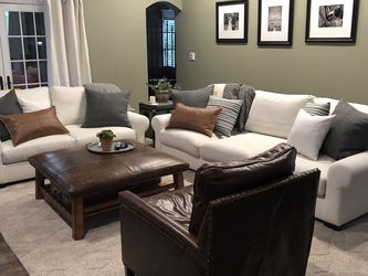 Sofa And Love Seat Set - Pottery Barn for Sale in Wexford,  PA