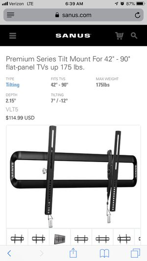 Tilting TV Wall Mount for Sale in Buckley, WA