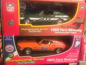 1968 & 1969 Jets and Mets 1:18 Scale ERTL COLLECTABLES for Sale in Lancaster, TX