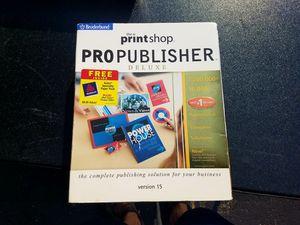 PrintShop Pro Publisher Version 15 for Sale in Saline, MI