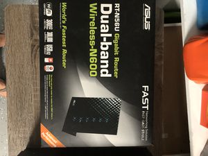 ASUS RT-N56U Dual-band 2x2 N600 Wifi 4-port Gigabit Router. for Sale in Houston, TX