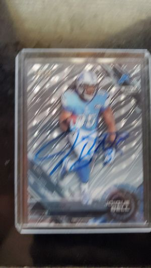 Joique bell signed card for Sale in Streamwood, IL