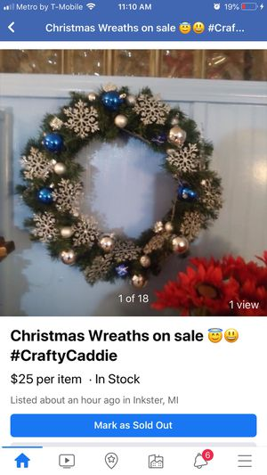 Christmas Wreathes and Candles for sale for Sale in Inkster, MI