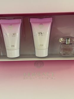 Versace Bright Crystal gift set includes: Versace Bright Crystal Eau de toilette 5ml Versace Bright Crystal bath & shower gel 25ml/0.8oz Versace Brig for Sale in Seal Beach,  CA