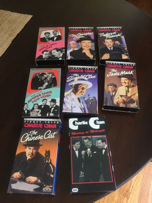 Charlie Chan 8 VHS tape set for Sale in Snohomish, WA