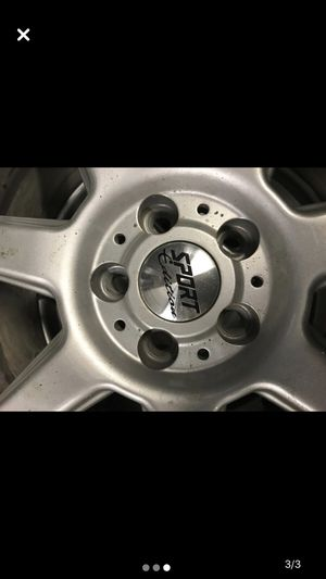 """17"""" sport edition rims, 5x100 bolt pattern $400 obo for Sale in Ithaca, NY"""