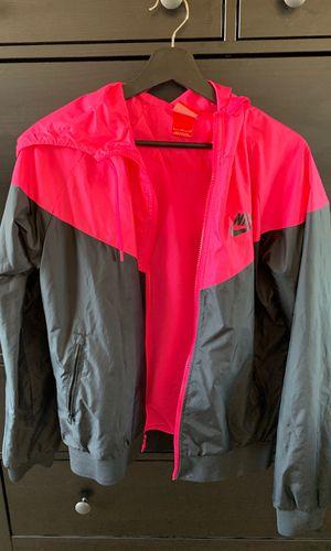 Nike zip up jacket neon Pink (large) for Sale in Alexandria, VA