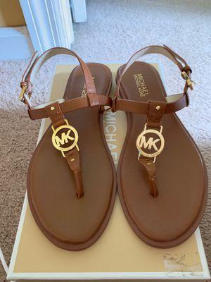 Michael Kors Luggage Tan Sandels 8m for Sale in Murfreesboro, TN